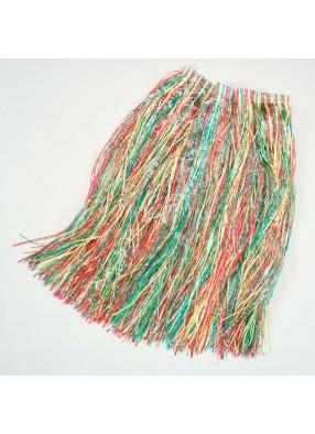 Юбка из травы гавайская мультицвет.