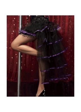 Юбка Кабаре с фиолетовой лентой 3 фото