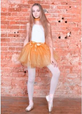 Юбка-Пачка абрикосовая фото
