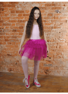 Юбка-пачка из сатина Каскад фиолетовая 1 фото