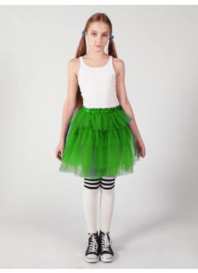 Юбка-пачка из сатина Каскад зеленая 1 фото
