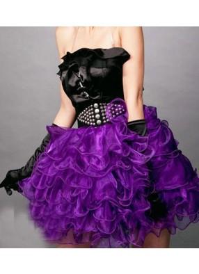 Юбка с воланами фиолетовая 1 фото