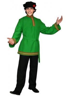 Зеленая косоворотка с тесьмой