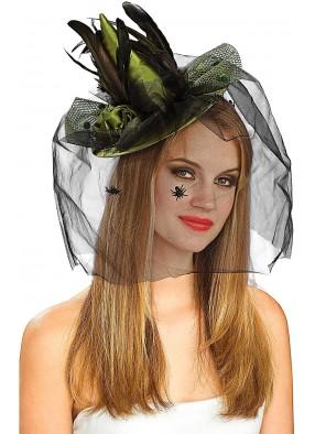 Зеленая шляпка ведьмы взрослая
