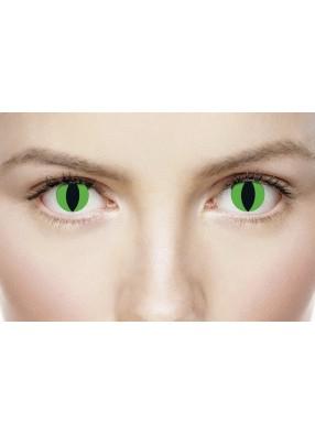 Зеленые линзы с вертикальным зрачком
