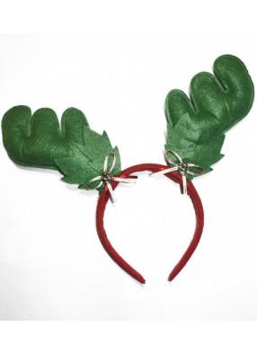 Зеленые новогодние оленьи рожки фото