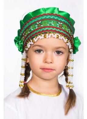 Зеленый кокошник-повязка