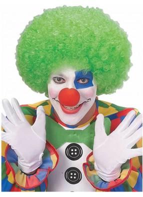 Зеленый парик веселого клоуна