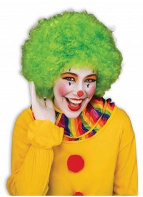 Зеленый парик забавного клоуна