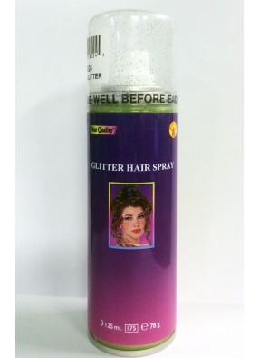 Зеленый спрей с блестками для волос