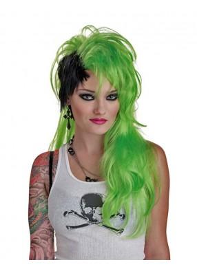 Зелёный панк парик