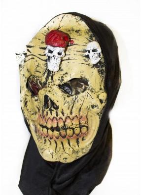 Желтая латексная маска черепа фото