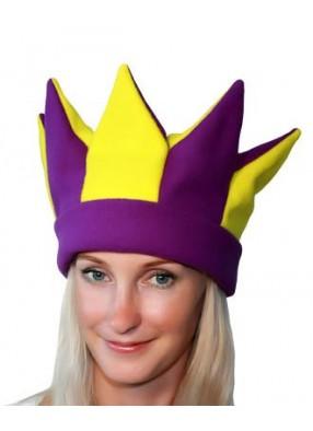 Желто-фиолетовая шапка петрушки и скомороха