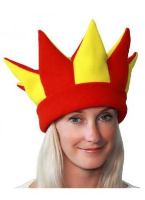 Желто-красная шапка петрушки и скомороха