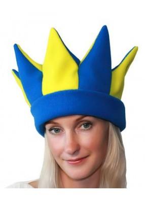 Желто-синяя шапка петрушки и скомороха
