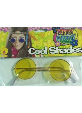 Желтые хипповые очки фото