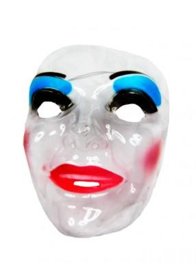 Женская маска прозрачная улыбающаяся