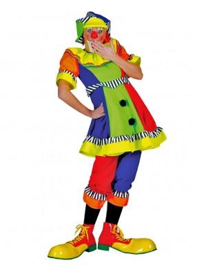 Женский яркий костюм клоуна
