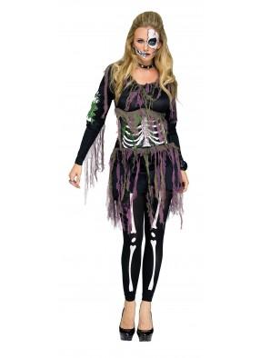 Женский костюм скелетона 3D фото