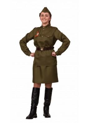 Женский костюм ВОВ из хлопка