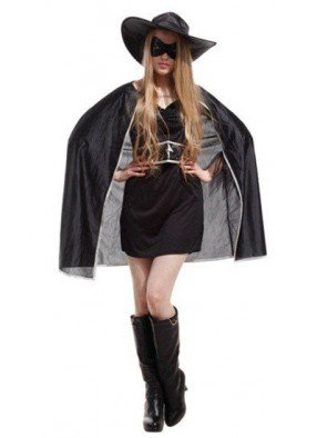 Женский костюм Зорро защитницы