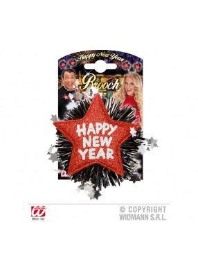 Значок Happy New Year на Новый год