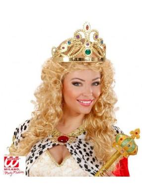 Золотая корона королевы с камнями