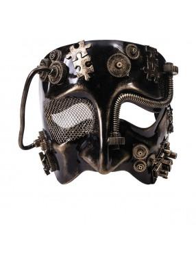 Золотая маска в стиле Стимпанк