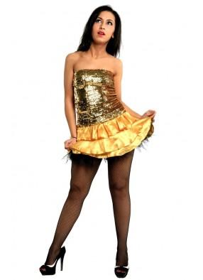 Золотистое платье 1 фото