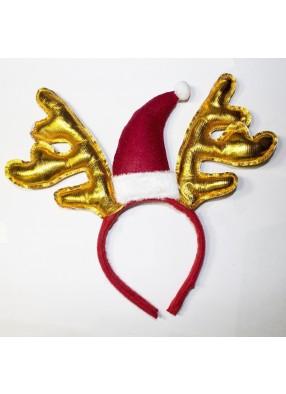 Золотистые новогодние оленьи рожки фото