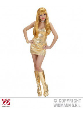 Золотое диско-платье