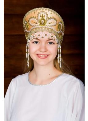 Золотой кокошник русской красавицы