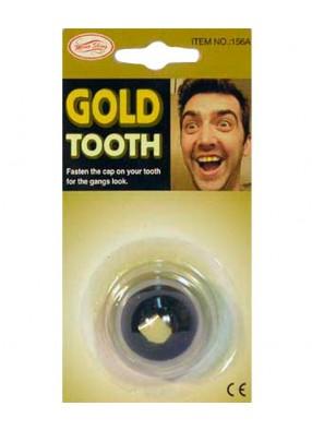 Зуб золотой с бриллиантом