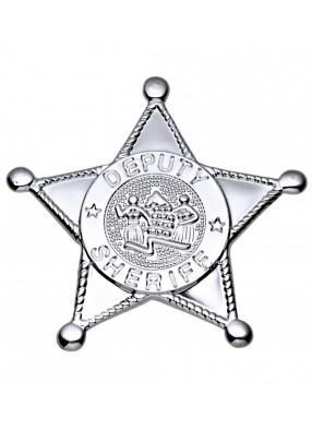 Звезда шерифа серебряная