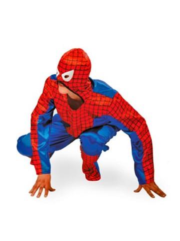 Костюм человека паука атласный