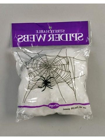 Белая паутина с пауком