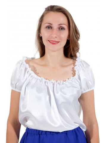 Блуза белая фото