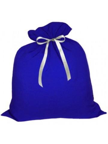 Большой подарочный мешок Деда Мороза синий