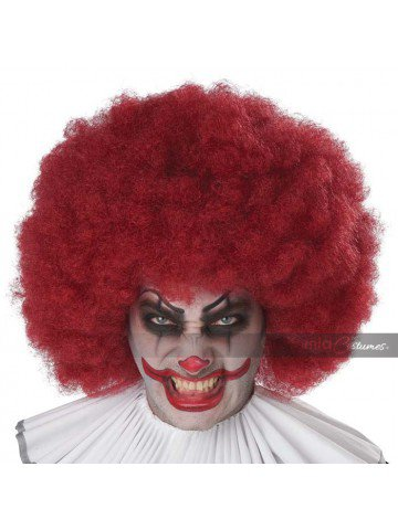 Бордовый парик клоуна