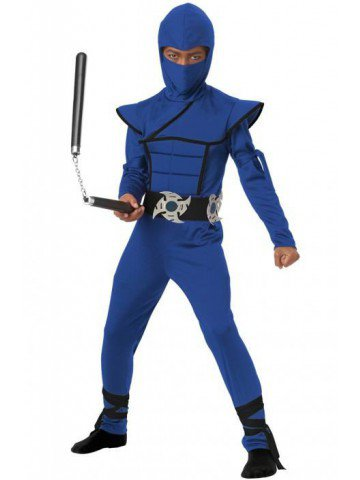 Детский костюм бесшумного ниндзя фото
