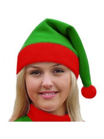 Классический колпак Эльфа Санта Клауса