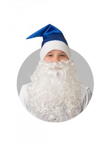 Колпак синий с бородой фото