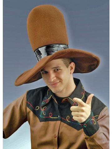 Коричневая ковбойская шляпа