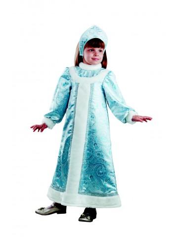 Костюм снегурочки шёлковой детский
