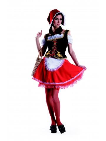 Костюм красной шапочки для девушки