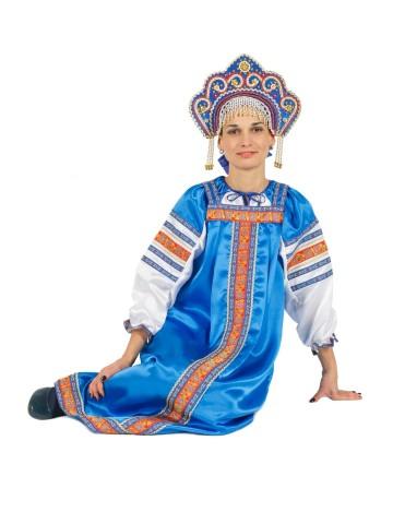 Костюм Марья синий для взрослых