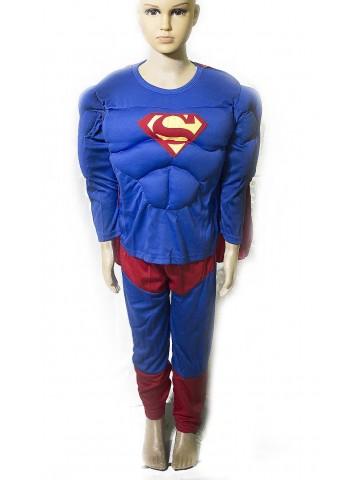 Костюм Супермена с мышцами для мальчиков фото
