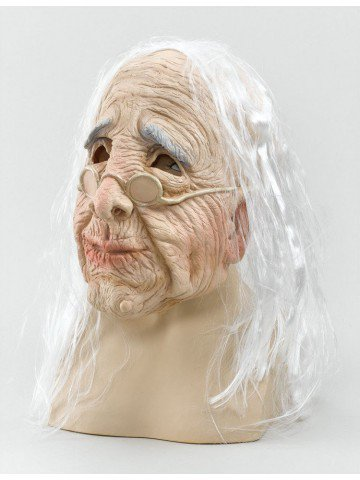 Маска Старушка с волосами 1 фото