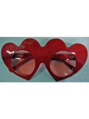 Очки красные сердца
