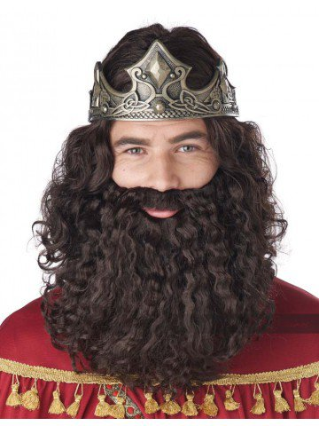 Парик короля брюнета
